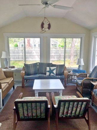 West Yarmouth Cape Cod vacation rental - Spacious three season porch opens to deck