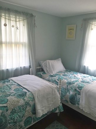 West Yarmouth Cape Cod vacation rental - Beach-themed third bedroom features two twin beds