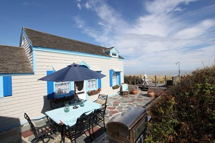 Sagamore Beach, Sandwich Sagamore Beach vacation rental - Large patio with gas grill and enclosed outdoor shower