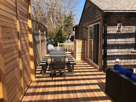 Provincetown Cape Cod vacation rental - Outdoor Dining Area:  Seating for 8