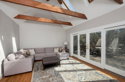 Harwich  Cape Cod vacation rental - Sunroom with sliders onto deck and ocean view