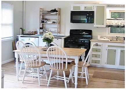 Orleans on Crystal Lake, close Cape Cod vacation rental - Kitchen as seen from Living Room