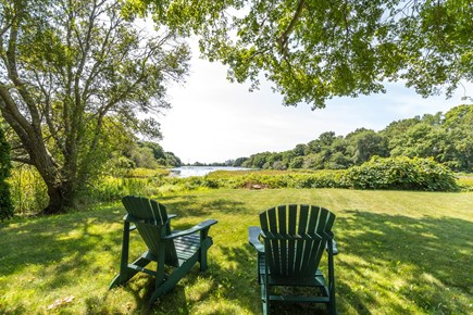 Mashpee, Popponesset Cape Cod vacation rental - Back yard view of Dean's Pond
