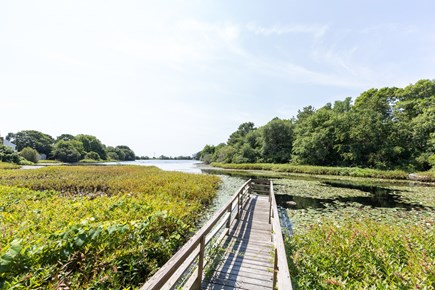 Mashpee, Popponesset Cape Cod vacation rental - View of pond from dock