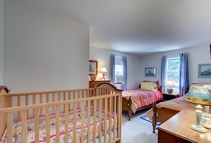 Mashpee, Popponesset Cape Cod vacation rental - Bedroom on 2nd level with two twin beds and a crib