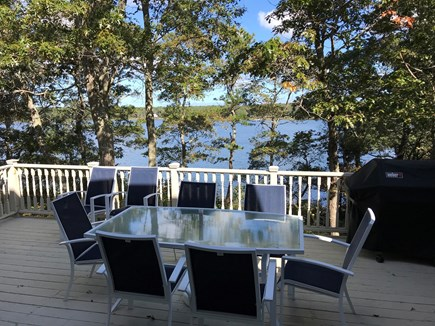 Yarmouth Cape Cod vacation rental - View of beautiful Follins Pond from large deck.