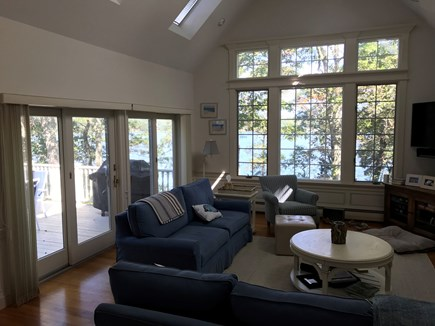 Yarmouth Cape Cod vacation rental - Living room has gorgeous views of the Pond.