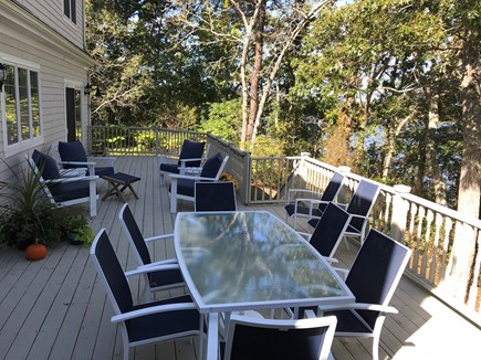 Yarmouth Cape Cod vacation rental - Extra large deck with several seating areas and beautiful views.