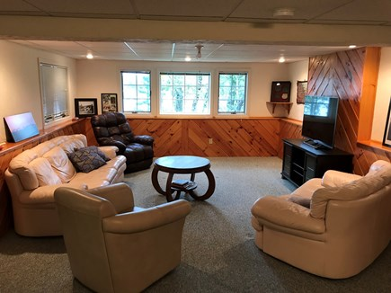 Yarmouth Cape Cod vacation rental - Basement entertainment area.