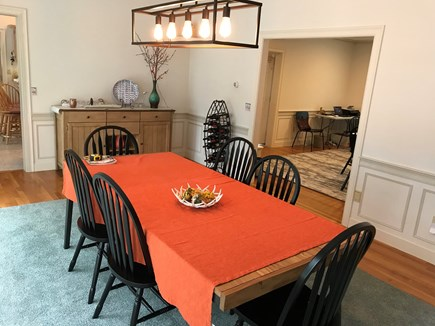Yarmouth Cape Cod vacation rental - Large dining room seats 8 (expands to 12)