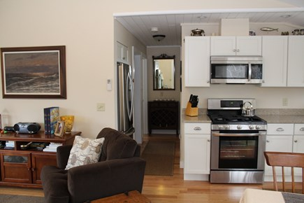 Wellfleet Cape Cod vacation rental - Open living room, dining area and kitchen