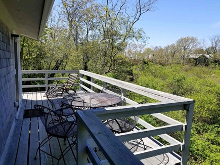 Wellfleet Cape Cod vacation rental - Back deck has wooded view