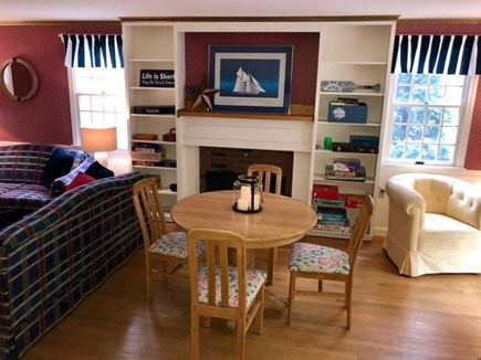 Eastham Cape Cod vacation rental - Living area with game room table
