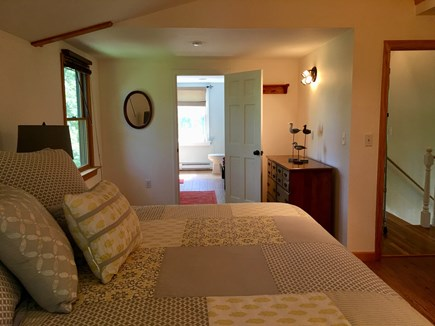 Eastham Cape Cod vacation rental - Master Bedroom Toward Large Tiled Bath