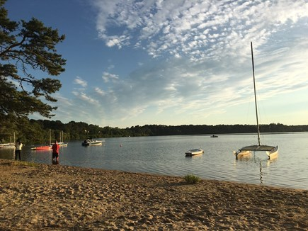 Eastham Cape Cod vacation rental - Sandy Public Beach at Great Pond...