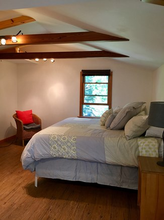 Eastham Cape Cod vacation rental - Master with King Bed and Raised Ceiling with Exposed Beams