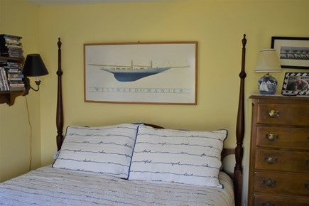 Wellfleet Cape Cod vacation rental - Back bedroom includes a queen size bed and twin bed