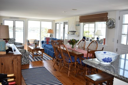 Wellfleet Cape Cod vacation rental - Main room includes a comfortable soft seating and dining area