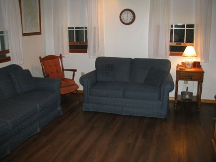 Wellfleet Cape Cod vacation rental - Living area w/queen sofabed, love seat and TV