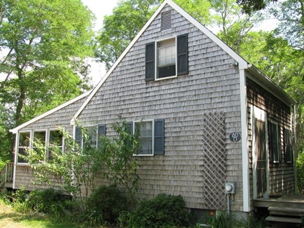 Wellfleet Cape Cod vacation rental - Side view of cottage with enclosed porch