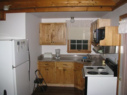 Wellfleet Cape Cod vacation rental - Newly updated kitchen w/a full size stove, microwave & fridge.