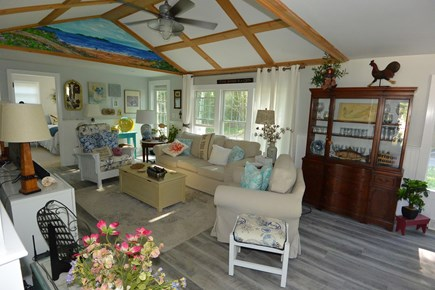 Mashpee, John's Pond Cape Cod vacation rental - Breezy living room with plenty of room and light