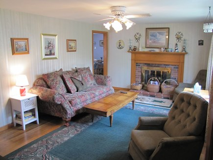 South Yarmouth Cape Cod vacation rental - Living room looking South
