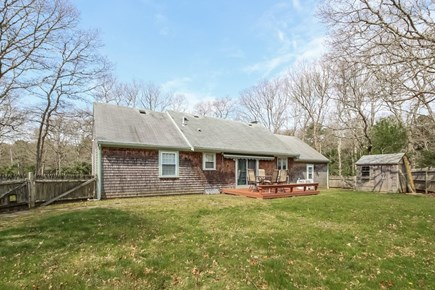 East Falmouth Cape Cod vacation rental - Flat back yard for sports