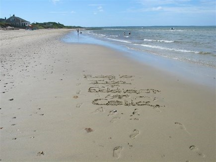 Eastham Cape Cod vacation rental - Private beach from house and view of ocean on the bay side