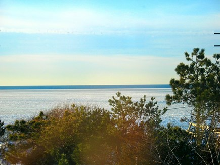 Eastham Cape Cod vacation rental - View from house of Cape Cod Bay from Side Deck