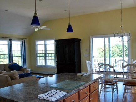 Eastham Cape Cod vacation rental - Inside view of living rm and view to the ocean