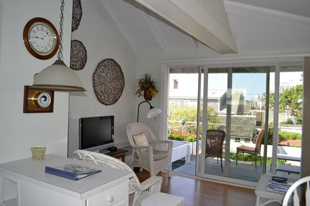 Provincetown Cape Cod vacation rental - Deck is off the living room. Open and airy.