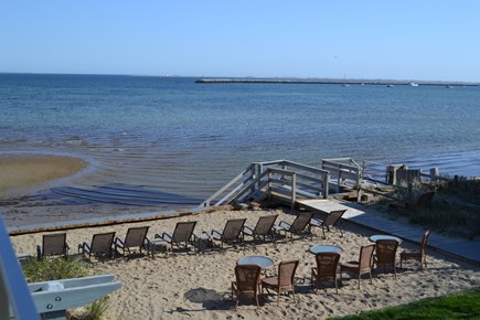 Provincetown Cape Cod vacation rental - View from the deck looking out to private beach and ocean.