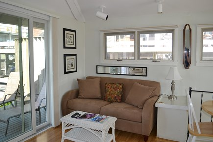 Provincetown Cape Cod vacation rental - Queen size sofa bed in the living room.