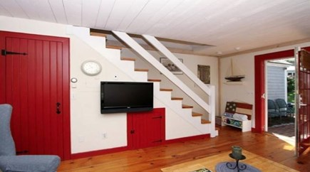 New Seabury, Mashpee New Seabury vacation rental - Living room with stairs to bedrooms on 2nd level