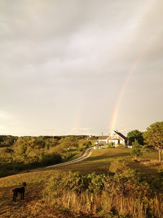 Truro Cape Cod vacation rental - Approach to  Main House - with studio at end of the rainbow ..
