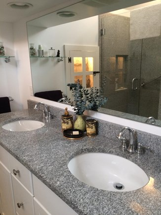Truro Cape Cod vacation rental - Bathroom vanity ...the luxury of having separate sinks...