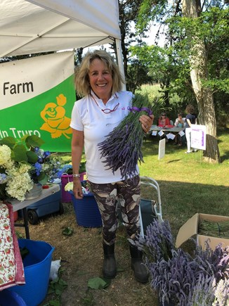 Truro Cape Cod vacation rental - Owner selling lavender harvest at Truro Farmer's Market