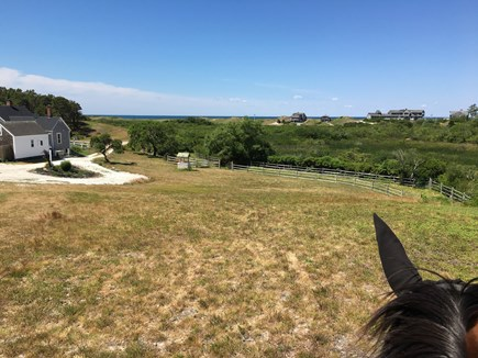 Truro Cape Cod vacation rental - Water View of Ryder Beach from Flagpole Hill (on horseback)
