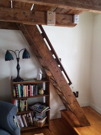 Truro Cape Cod vacation rental - Steps leading to sleeping loft - where a quiet sleep  awaits