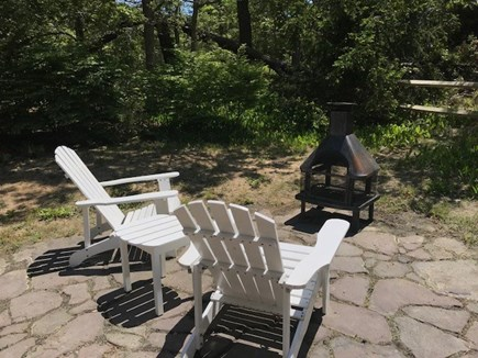 Eastham Cape Cod vacation rental - Enjoy relaxing in the Adirondack chairs facing the fireplace.