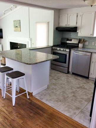 South Dennis Cape Cod vacation rental - Newly renovated kitchen with counter seating.