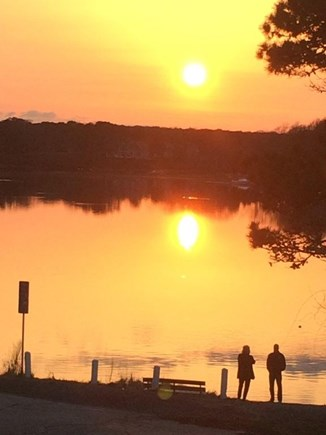 South Dennis Cape Cod vacation rental - Amazing sunset views from the deck