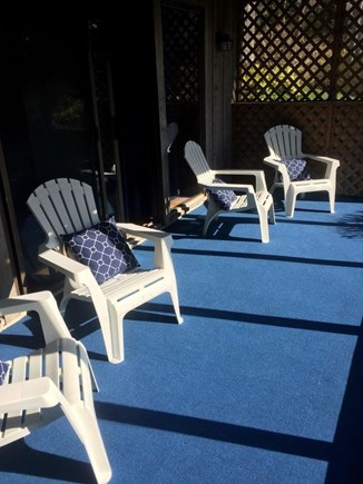 South Dennis Cape Cod vacation rental - Screened in porch on lower level
