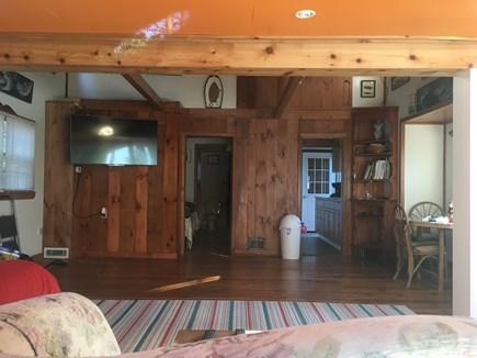 Wellfleet Cape Cod vacation rental - Open living room with flat screen TV