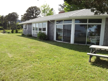 Chatham Cape Cod vacation rental - Back of Home With A Wall of Windows Taking Advantage of Views.