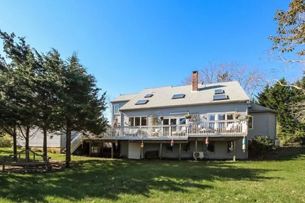 Eastham Cape Cod vacation rental - Large wraparound deck with gorgeous water views and room for all