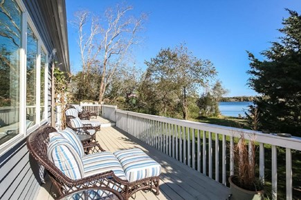 Eastham Cape Cod vacation rental - Relax on the back deck and enjoy the view of your private beach