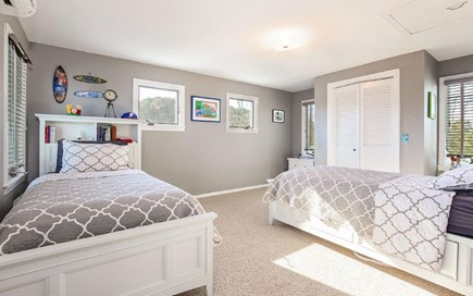 Eastham Cape Cod vacation rental - Upstairs bedroom with 2 twins and water views