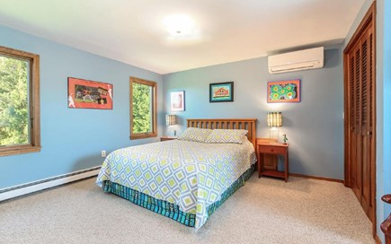 Eastham Cape Cod vacation rental - Upstairs queen bedroom with skylight facing water